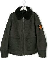 Diesel shearling zipped jacket