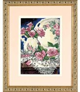 Dimensions Needlecrafts Petite Counted Cross Stitch, Lace and Roses
