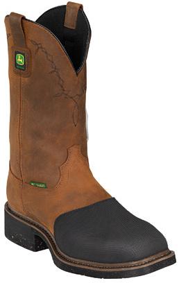 "John Deere Men's Boots 12"" Metatarsal Guard Fire-Retardant Pull-On Boot"