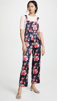 Fleur Du Mal Silk Overalls