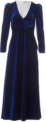Self-Portrait Blue Velvet Dresses
