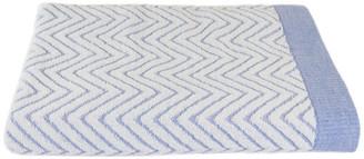 Fibertone by 1888 Mills Fibertone Chevron Jacquard Beach Towel , Porcelain Blue