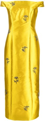 Erdem Embellished Long Dress