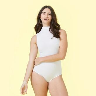 Summersalt The Sleeveless Day to Night Bodysuit - White Sand