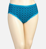 Avenue Hawaiian Geo Cotton Modern Brief Panty with Lace