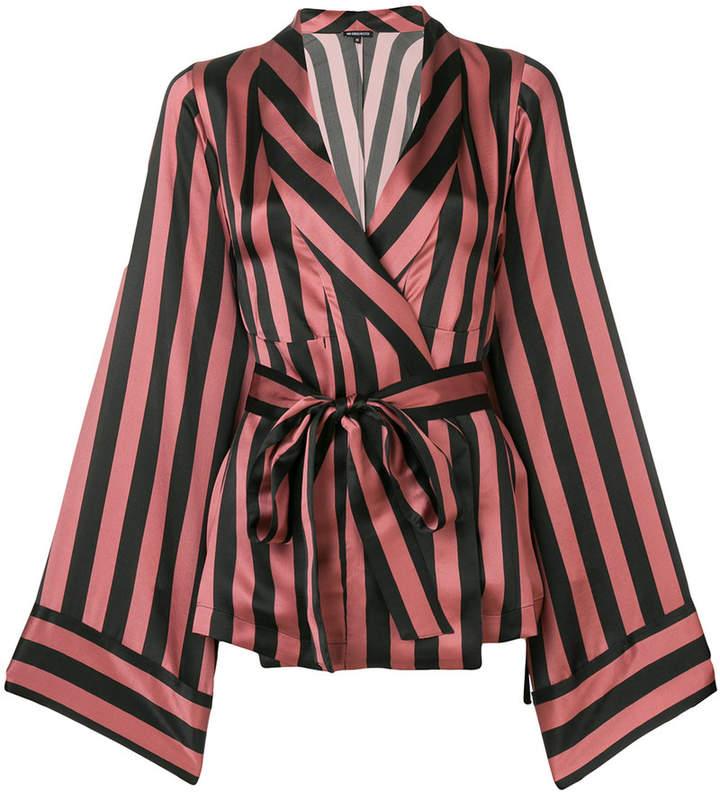Ann Demeulemeester tie waist striped shirt