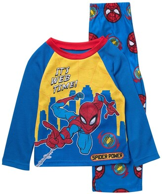 AME Marvel Spider-Man Print Long Sleeve Top & Sleep Pants Pajama 2-Piece Set