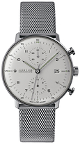 Junghans 027/4003.44 Max Bill Self-winding Chronoscope Stainless Steel Bracelet Strap Watch, Silver/white