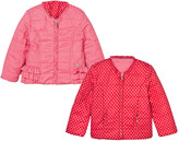Mayoral Red and Pink Reversible Spot Puffer Jacket