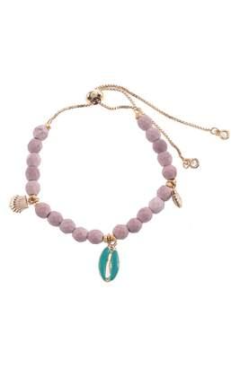 Nakamol Chicago Adjustable Beaded Charm Bracelet