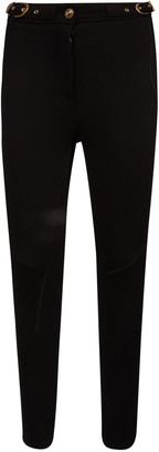 Versace Side Belt Waist Fitted Trousers