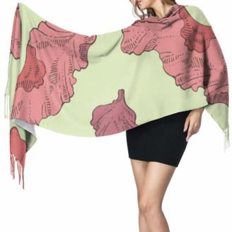 Yushg Green Sea Water Bio Food Kelp Scarf Shawl Shawls Wrap Scarfs Cashmere For Women 77x27inch/196x68cm Large Soft Pashmina Extra Warm