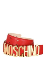 Moschino 35mm Grained Leather Belt