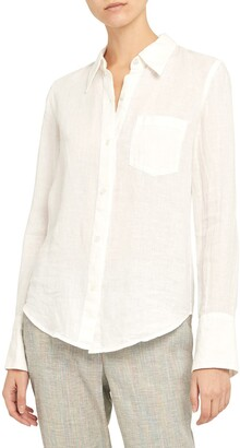 Theory Linen Button-Up Shirt