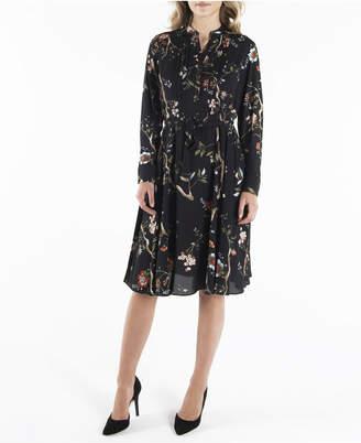 Nanette Lepore nanette Long Sleeve Pintuck Shirtdress with Sash Belt