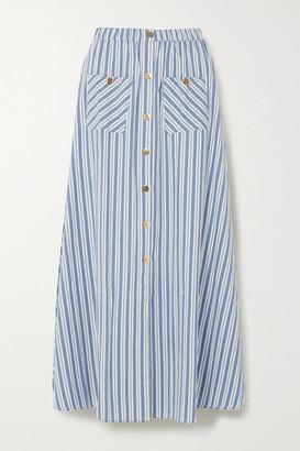 Melissa Odabash Kelly Striped Cotton Maxi Skirt - Blue