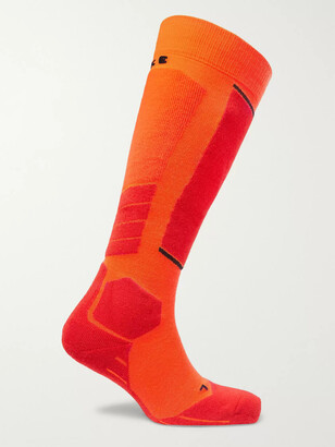 FALKE ERGONOMIC SPORT SYSTEM SK2 Stretch-Knit Ski Socks - Men - Orange