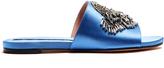 Rochas Crystal-embellished satin slides