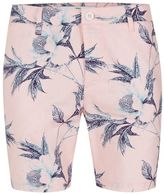 Topman Pink Floral Skinny Chino Shorts