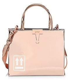 Off-White Women's Mini Mirror Binder Clip Box Bag