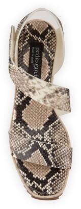 Pedro Garcia Fely Snake-Print Wedge Sandals