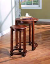 Coaster 901039 2 Piece Round Nesting Table Set, Cherry