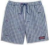 Vineyard Vines Boys' Gingham Flag Whale Swim Trunks - Little Kid, Big Kid