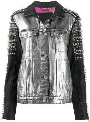 Philipp Plein Rock Anthem stud-embellished denim jacket