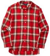 Ralph Lauren Girls' Twill Plaid Shirt - Sizes 7-16