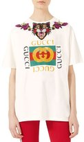 Gucci Crystal-Embroidered Cotton T-Shirt