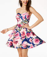 B. Darlin Juniors' Printed Tiered Fit and Flare Dress