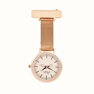 Bermuda Watch Company Annie Apple Rose Gold Mesh Nurse Fob Watch