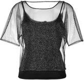 Emporio Armani sheer layer blouse
