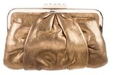 Giuseppe Zanotti Metallic Leather Clutch
