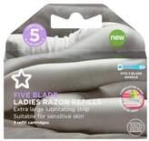 Superdrug Female 5 Blade X3 Refills