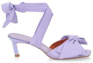 Ganni Bow Wraparound Sandals