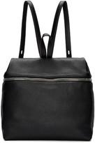 Kara Black Large Leather Backpack