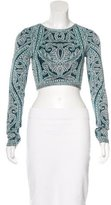 Herve Leger Patterned Crop Top w/ Tags