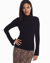 White House Black Market Long-Sleeve Ruffle Turtleneck