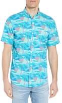 Vineyard Vines Linear Umbrellas Murray Slim Fit Sport Shirt