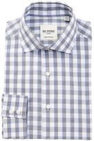 Ben Sherman Tailored Skinny Fit Blue & Grey Jasper Check Dress Shirt