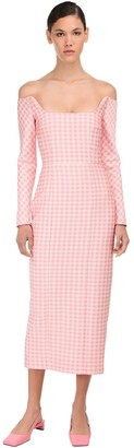 Emilia Wickstead Gingham Pencil Midi Dress