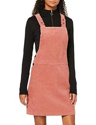New Look Women's 8W BCI Cord Dungaree Pinny Dress,(Size:)