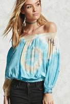 Forever 21 FOREVER 21+ Tie-Dye Off-the-Shoulder Blouse