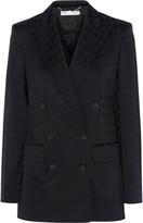Stella McCartney Houndstooth cotton and wool-blend blazer