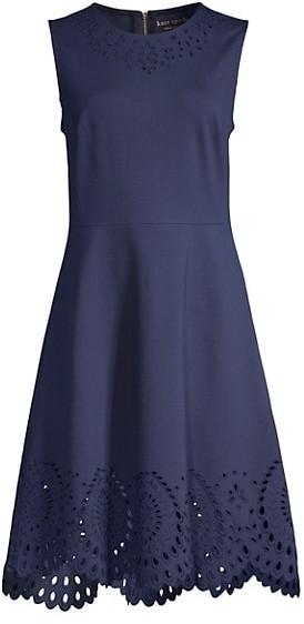 Kate Spade Sleeveless Cutout Ponte Dress