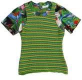 Altuzarra Green Tropical Print Short Sleeve Top