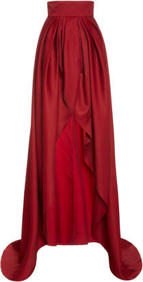 Brandon Maxwell Front Slit Ball Skirt