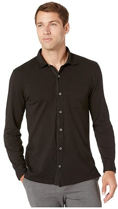 Mod-o-doc Santa Monica Long Sleeve Button Front Shirt (Black) Men's Long Sleeve Button Up