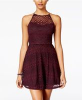 As U Wish Juniors' Lace Fit & Flare Dress